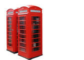Traditional red London phone booths. — Stock Photo