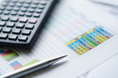 Simple Finance worksheet — Stock Photo