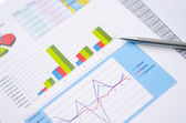 Financial Worksheet — Stock Photo