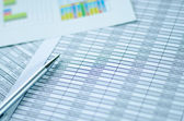 Financial worksheet with focus in Income word — Stock Photo