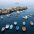 Foto Stock: Boats docked