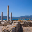 Nora ruins on sardegna — Stock Photo