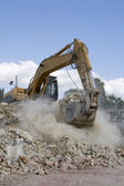 Excavator at work — Stock Photo