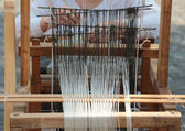 Hand loom weaving machine — Stock Photo