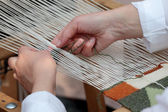 Handloom weaver — Stock Photo