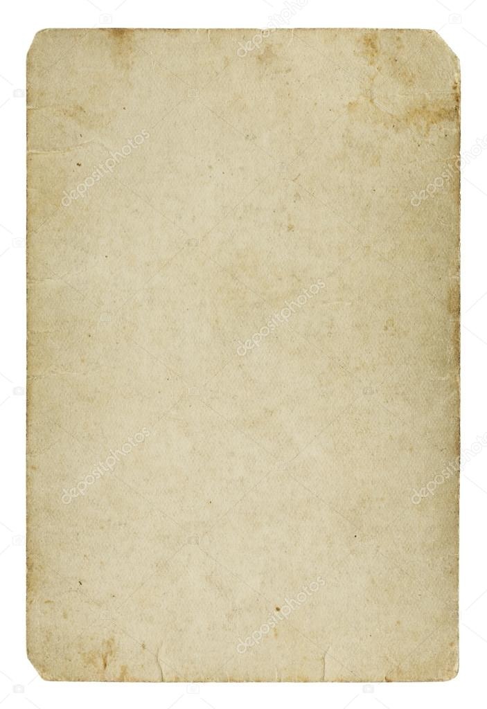 Old blank paper card — Stock Photo © Lukasok #21623791