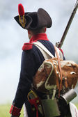 Napoleonic soldier — Stock Photo