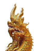 Golden buddha on white background — Stock Photo