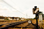 Freight Station with trains — Stockfoto