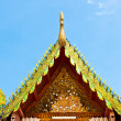 Roof temple buddha in thailand — Stock Photo #28984439