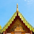Roof temple buddha in thailand — Stock Photo