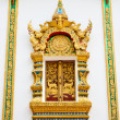 Traditional Thai style window temple — Stock Photo