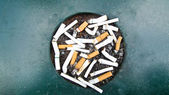 Ashtray public — Stock Photo