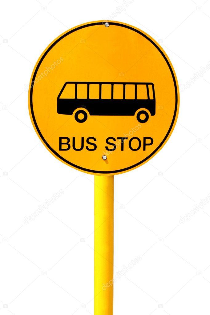 panneau d 39 arr t de bus sur fond blanc photographie panupong1982 28984927. Black Bedroom Furniture Sets. Home Design Ideas