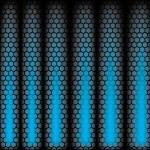 Metal Shine Hexagon Grid on blue Background. Vector Illustration — Stock Vector #41406911