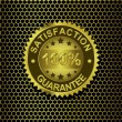 Satisfaction Guarantee on metal background vector  — Vetorial Stock #41408005
