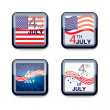 Stock Vector: Web app icon Independence day 4th of July. Vector