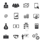 Business icons vector. — Stock Vector