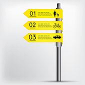 Modern sign infographics vector EPS 10 — Wektor stockowy