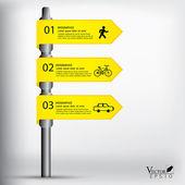 Modern sign infographics vector EPS 10 — Stock Vector