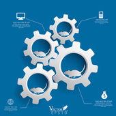 Gears background infographics design Vector illustration. EPS 10 — Stock Vector