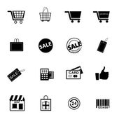 Shopping icons Vector. — Stock Vector