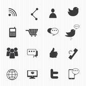 Popular social media icons — 图库矢量图片