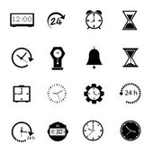 Time icons Vector. — Vettoriale Stock