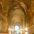 Footpath tunnel in Temple of Thailand — Stock Photo #42723809