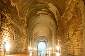 Footpath tunnel in Temple of Thailand — Stock Photo