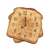 Toast clock — Stock Photo