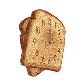 Toast clock — Stock Photo