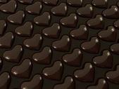 Heart shape delicious chocolate — Stok fotoğraf