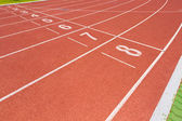 Running Track and Lanes — Stock Photo