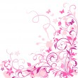 Royalty-Free Stock Vector Image: Floral greeting card