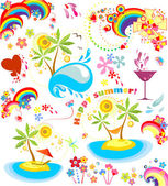 Set of summer holiday icons — Stock Vector