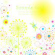 Royalty-Free Stock Vector Image: Abstract card with dandelion