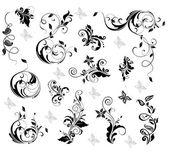 Elegant blommig design — Stockvektor