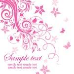 Beutiful pink card — Stock Vector #19438113
