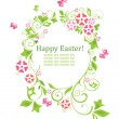 Easter wreath with egg shape — Stock Vector