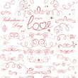 Set of valentine ribbons — Stock Vector