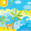 Summer holiday background - Stock Vector
