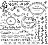 Decorative wedding frames — Stock Vector