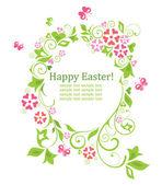 Wielkanoc wieniec z kształt jajka — Wektor stockowy