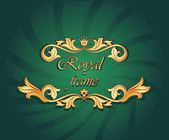 Royal frame — Stock Vector