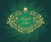 Royal gold frame — Stock Vector