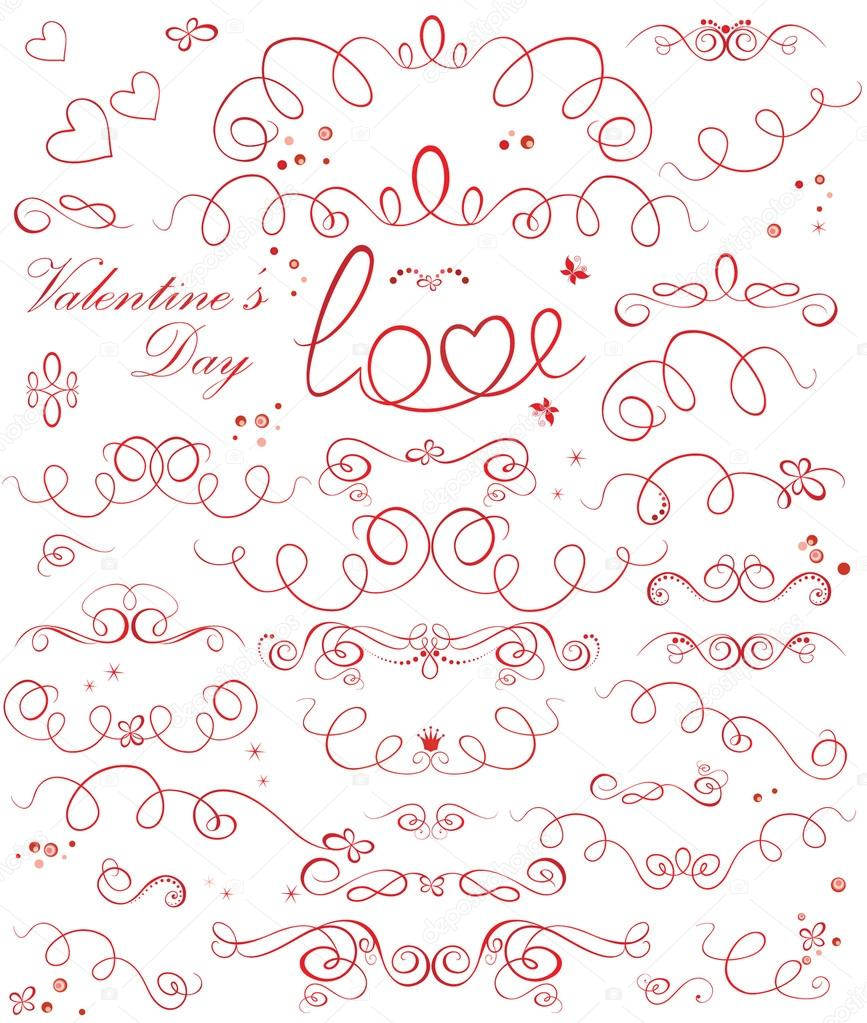 Set of valentine ribbons — Stock Vector #19445673
