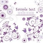 Vintage floral violet card — Stock Vector #19458591