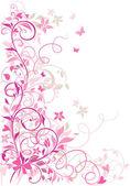 Valentine floral border — Stock Vector