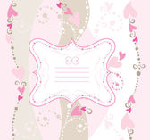Valentine greeting card — Stock Vector